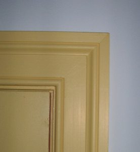 Door casing on private rooms.