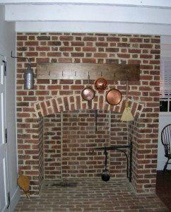 Colonial House Kitchen Fireplace